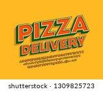 vector vintage style logotype... | Shutterstock .eps vector #1309825723