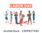 labor day poster people of... | Shutterstock .eps vector #1309827430
