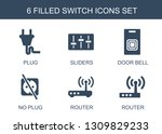 6 switch icons. trendy switch... | Shutterstock .eps vector #1309829233