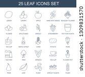 leaf icons. trendy 25 leaf... | Shutterstock .eps vector #1309831570
