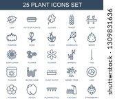 25 plant icons. trendy plant... | Shutterstock .eps vector #1309831636
