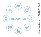 8 relaxation icons. trendy... | Shutterstock .eps vector #1309831660