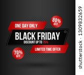 sale poster of black friday.... | Shutterstock .eps vector #1309832659