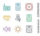 speaker icons. trendy 9 speaker ...   Shutterstock .eps vector #1309834960
