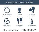 rhythm icons. trendy 6 rhythm... | Shutterstock .eps vector #1309835029