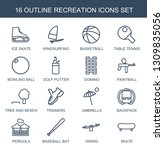 recreation icons. trendy 16... | Shutterstock .eps vector #1309835056