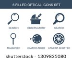 optical icons. trendy 6 optical ... | Shutterstock .eps vector #1309835080