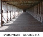 passage along the wall of the... | Shutterstock . vector #1309837516