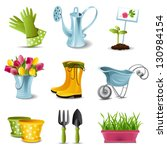 gardening icons | Shutterstock .eps vector #130984154