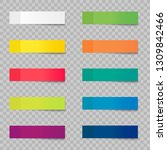 post note stickers isolated on...   Shutterstock .eps vector #1309842466