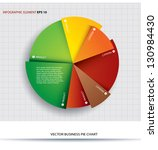 business pie chart  paper info... | Shutterstock .eps vector #130984430