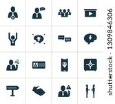 job icons set with presentation ... | Shutterstock .eps vector #1309846306