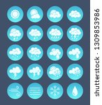 weather icons pack. weather... | Shutterstock .eps vector #1309853986