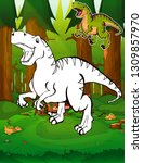 coloring dinosaurs.... | Shutterstock .eps vector #1309857970