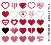 collection of heart. vector... | Shutterstock .eps vector #1309857976