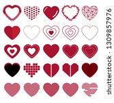 collection of heart. vector...   Shutterstock .eps vector #1309857976