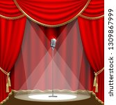 theater stage  with microphone... | Shutterstock .eps vector #1309867999