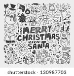 doodle christmas element | Shutterstock .eps vector #130987703