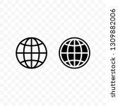 globe vector icon ... | Shutterstock .eps vector #1309882006
