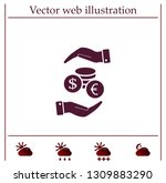 money  coins  stateroom vector... | Shutterstock .eps vector #1309883290