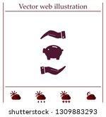 piggy bank vector icon. | Shutterstock .eps vector #1309883293