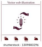 light bulb energy saving ... | Shutterstock .eps vector #1309883296