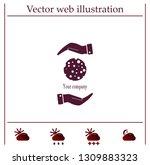 ball with holes logo vector... | Shutterstock .eps vector #1309883323