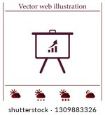 infographics on the stand ... | Shutterstock .eps vector #1309883326