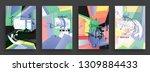 template brochures  flyers   Shutterstock .eps vector #1309884433