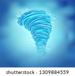 the power of the water rotates... | Shutterstock .eps vector #1309884559