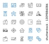 loan icons set. collection of... | Shutterstock .eps vector #1309886086