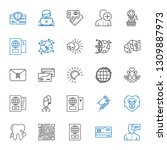 identity icons set. collection... | Shutterstock .eps vector #1309887973