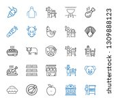 meat icons set. collection of... | Shutterstock .eps vector #1309888123