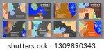 artistic covers design.... | Shutterstock .eps vector #1309890343