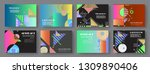 artistic covers design....   Shutterstock .eps vector #1309890406