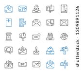 receive icons set. collection... | Shutterstock .eps vector #1309891126