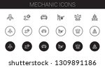 mechanic icons set. collection... | Shutterstock .eps vector #1309891186