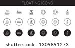 floating icons set. collection... | Shutterstock .eps vector #1309891273