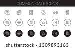 communicate icons set....