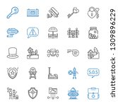 safety icons set. collection of ... | Shutterstock .eps vector #1309896229