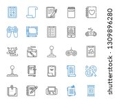 pad icons set. collection of... | Shutterstock .eps vector #1309896280
