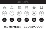joy icons set. collection of... | Shutterstock .eps vector #1309897009