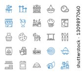meal icons set. collection of... | Shutterstock .eps vector #1309897060