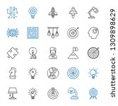 solution icons set. collection... | Shutterstock .eps vector #1309898629