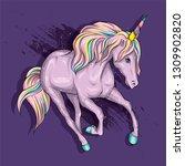 beautiful unicorn in the... | Shutterstock .eps vector #1309902820
