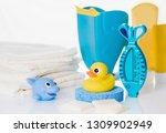 still life with baby hygiene... | Shutterstock . vector #1309902949