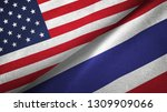 united states and thailand two... | Shutterstock . vector #1309909066