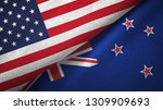 united states and new zealand... | Shutterstock . vector #1309909693