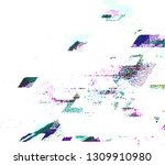 abstract vector background dot... | Shutterstock .eps vector #1309910980