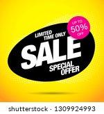 sale banner layout design | Shutterstock .eps vector #1309924993